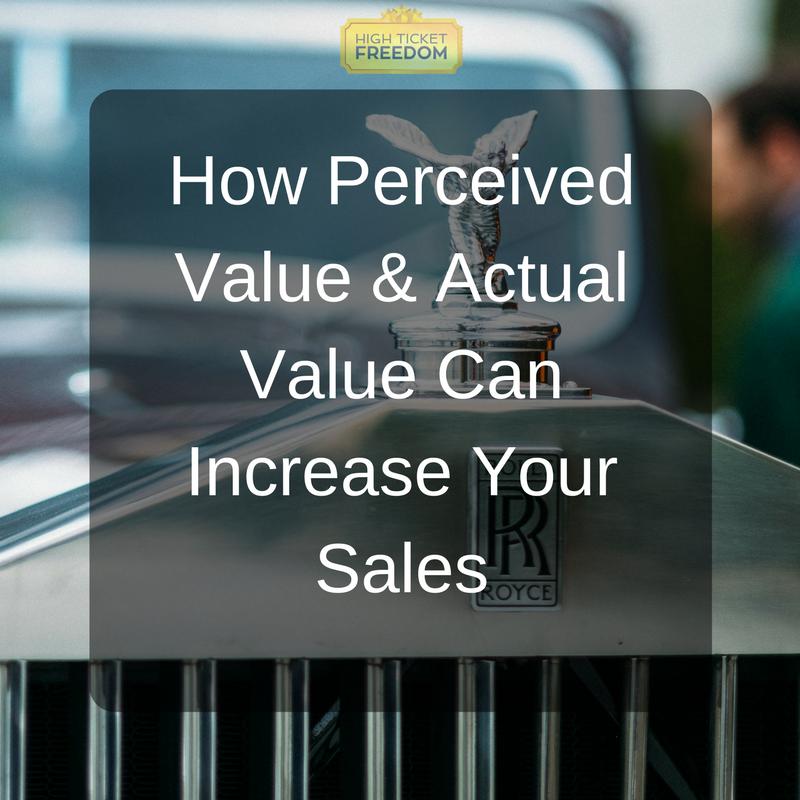 Perceived value & actual value