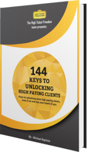 144 Keys to Unlocking High Paying Clients book cover