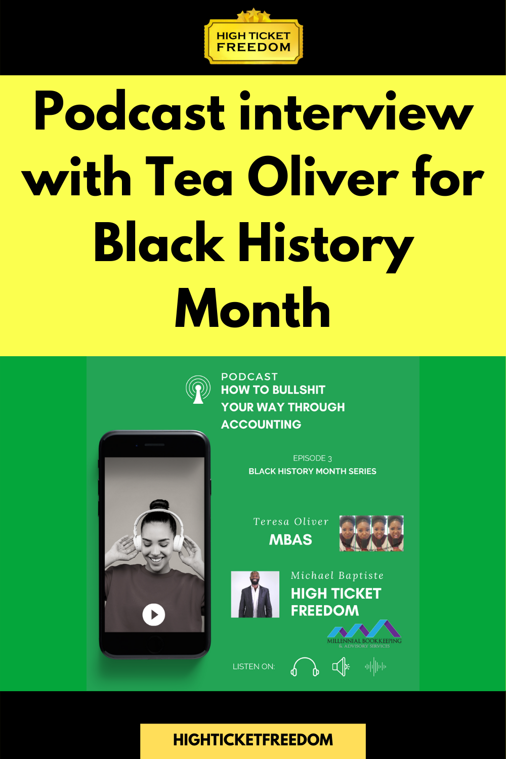Podcast interview with Tea Oliver for Black History Month