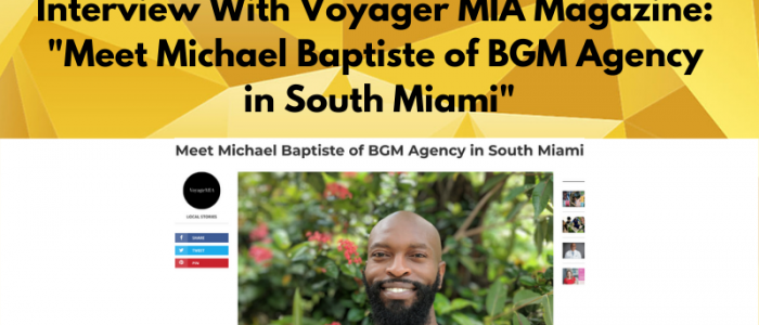 Michael Baptiste Featured In Voyager Magazine
